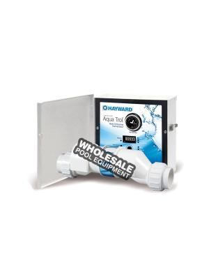 Hayward AQ-TROL-HP-TL AquaTrol 18k Gallon AG Salt Chlorine Generator, Hose/Pipe Fitting W/ Twist Lock Line Cord and Outlet