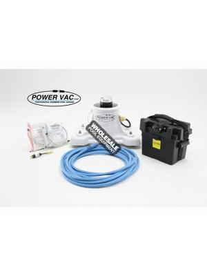 Power Vac 003-D-40 Portable PV2500 Pool Vacuum with Battery Case & (2) Filter Bags; 40 ft Floating Power Cord