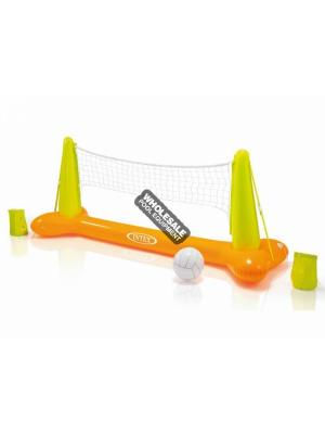 "INTEX RECREATION CORPORATION 56508EP INFLATABLE VOLLEYBALL GAME  94"" x 25"" x 36"". Infaltable pole/base is made of 12 gauge vinyl and is grommeted so anchor weights may be added if desired. Include 7 gauge vinyl inflatable ball and repair patch."