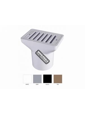 CMP 25533-001-000 Gutter/Deck Drain; 2 Inch x 4 Inch, Gray